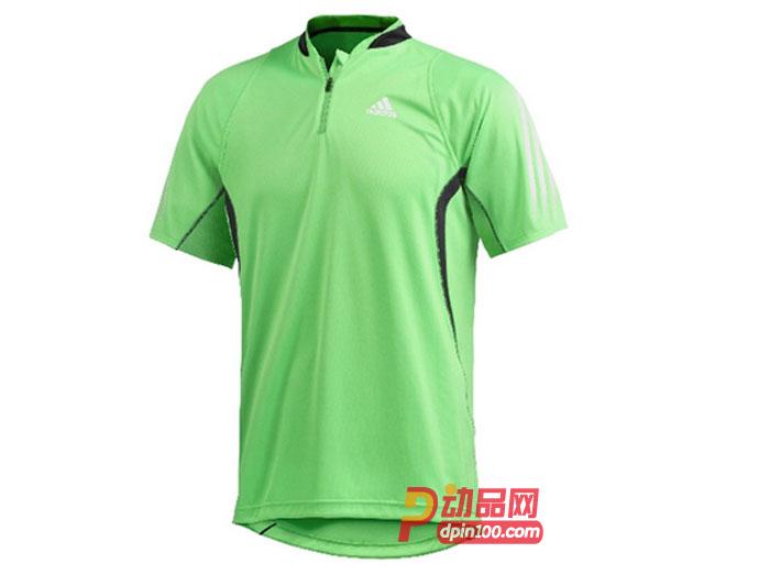和全新拉链领口设计   adidas阿迪达斯 乒乓球服 男短袖 专业比赛服
